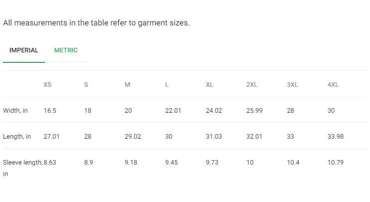 Size Guide (Shirt)