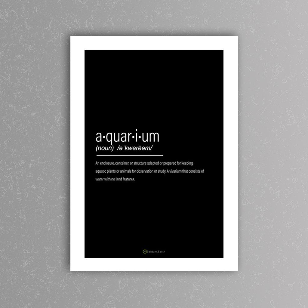 Aquarium Definition Art Print | Black