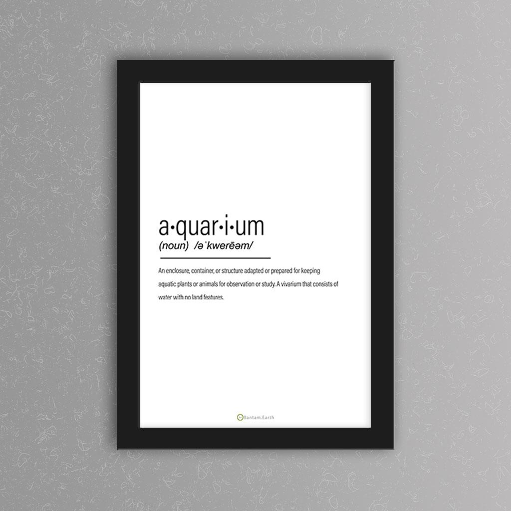 Aquarium Definition Art Print | White