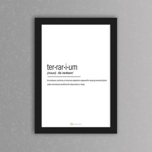 Terrarium Definition Art Print | White